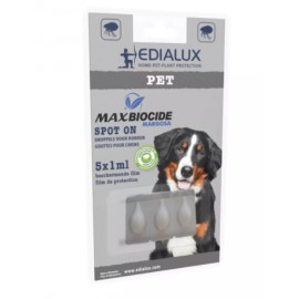 Max biocide spot on dog 5st  Edialux